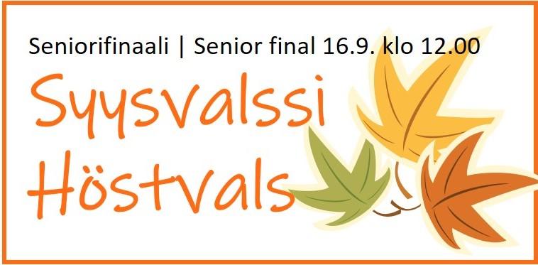 Senior final | Höstvals