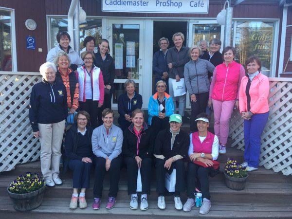 Karleby golfdamer på besök – Kokkolan golfnaiset vierailulla