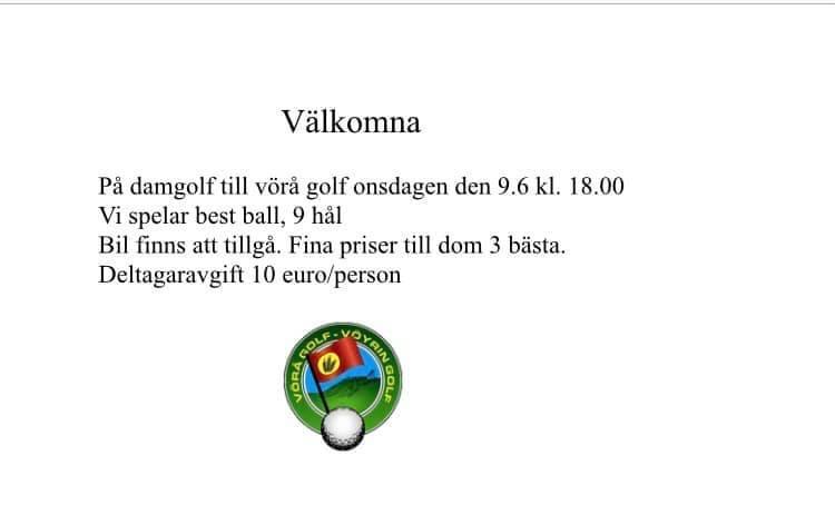 Spelresa till Vörå Golf 9.6 Pelimatka Vöyri Golfiin