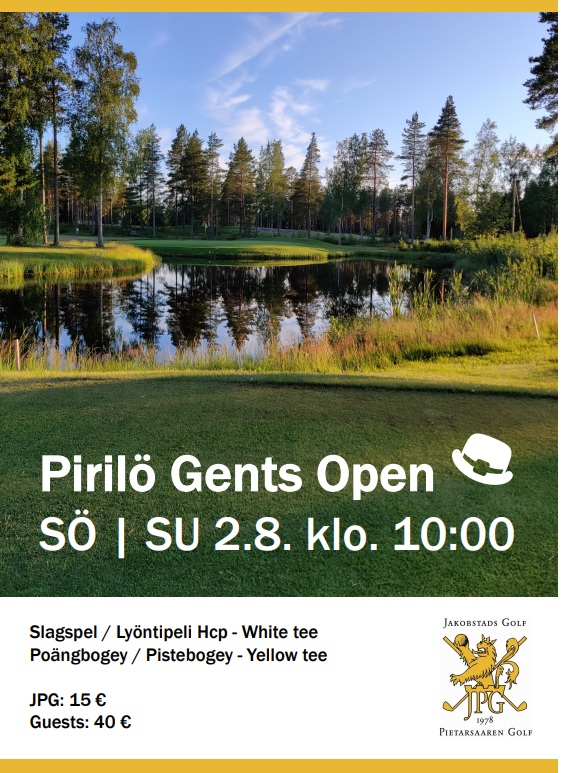 Pirilö Gents Open