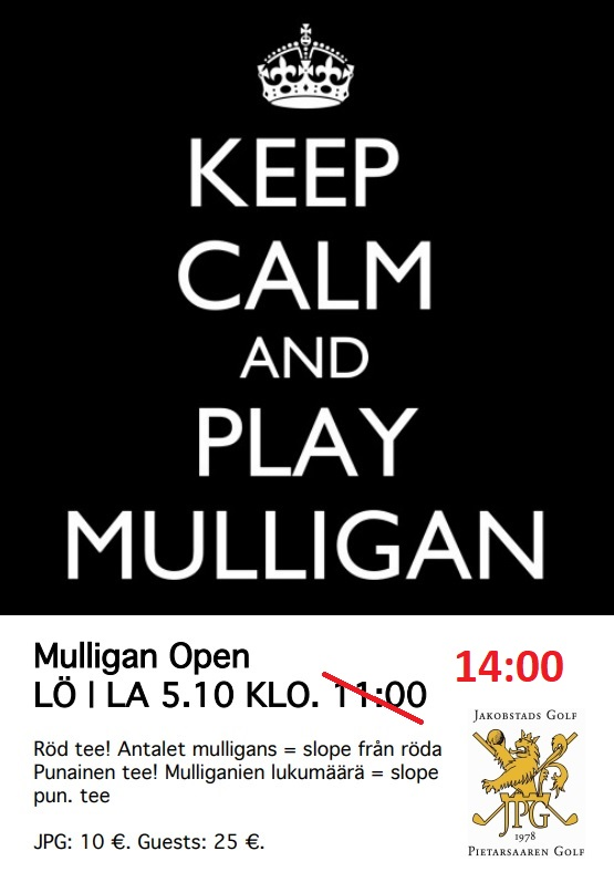 Mulligan Open (Start kl. 14:00)