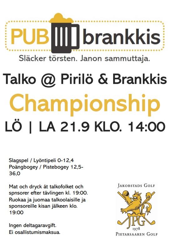 Talko @ Pirilö & Brankkis Championship